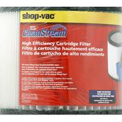 Shop Vac High Efficiency Cartridge Filter, Fine Filtration, Type JJ