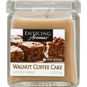 Enticing Aromas Scented Candle, Walnut Coffee Cake, Soy Blend