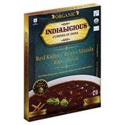 Indialicious Red Kidney Beans Masala, Organic, Rajma Masala, Mild