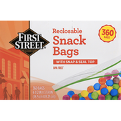 First Street Snack Bags, Reclosable