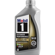 Mobil Motor Oil, 5W-30, Advanced Full Synthetic, Extended Performance