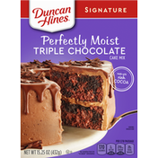 Duncan Hines Cake Mix, Triple Chocolate, Perfectly Moist