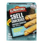 El Monterey Shell Shockers Chicken Taquitos Jalapeno Ranch - 24 CT