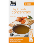 Food Lion Liquid Broth, Concentrate, Chicken, Box