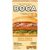 Boca Spicy Vegan Chik'n Veggie Patties with Non-GMO Soy