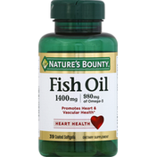 Nature's Bounty Fish Oil, 1400 mg, Coated Softgels