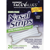 Face Values Nasal Strips, Extra Strength, Clear Strips