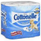 Cottonelle Toilet Paper, Double Roll, 1-Ply