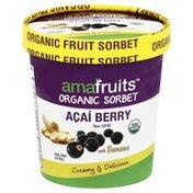 Amafruits Sorbet, Organic, Acai Berry With Banana
