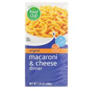 Food Club Original Macaroni & Cheese Dinner