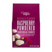 Simply Enjoy Raspberry Powdered Shortbread Cookies