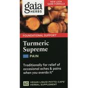 Gaia Herbs Turmeric Supreme, Pain, Vegan Liquid Phyto-Caps