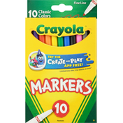 Crayola Fine Line Classic Colors Markers