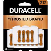 Duracell Batteries, Zinc Air, 312, 12 Pack