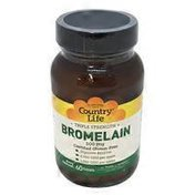 Country Life Triple Strength Bromelain with Pepsin 500 Mg