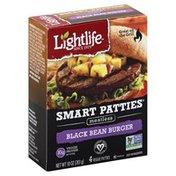 Lightlife Veggie Patties, Meatless, Black Bean Burger
