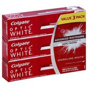 Colgate Fluoride Toothpaste, Anticavity, Sparkling Mint, 3 Pack