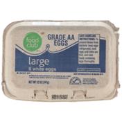 Food Club Grade Aa Large White Eggs