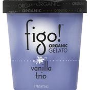 Figo! Gelato, Organic, Vanilla Trio