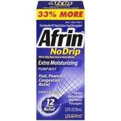 Afrin No Drip Extra Moisturizing Pump Mist Nasal Decongestant