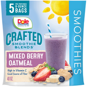 Dole Mixed Berry Oatmeal Crafted Smoothie Blends