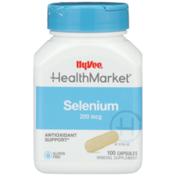 Hy-Vee Healthmarket, Selenium 200 Mcg Antioxidant Support Mineral Supplement Capsules