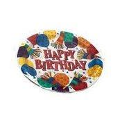 "Amscan 7"" Birthday Horns Pattern Round Paper Plates"