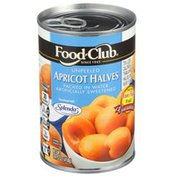 Food Club Unpeeled Apricot Halves Packed In Water