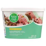 Food Club Spumoni Pistachio Flavored, Spumoni Fruit & Chocolate Premium Ice Cream