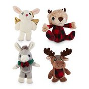 """4"""" Assorted Holiday Character Plush Dog Toy"""