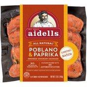 Aidells Smoked Chicken Sausage, Poblano & Paprika, 12 oz. (Pack of 8)