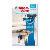 Wee Wee Extra Extra Small Washable Dog Diaper Garment