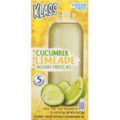 Klass Aguas Frescas, Cucumber Limeade, On the Go Packets