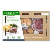 Home Chef Sirloin Steak And Garlic-Tomato Demi