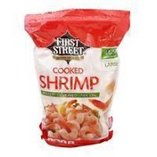 First Street Shrimp, Cooked, Large