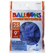 Amscan Balloons, 9 Inch, Helium Quality, Round, Bright Royal Blue