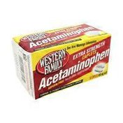 Western Family Extra Strength 500 mg Acetaminophen Caplets