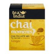 Tea India Chai Moments Chai Tea Latte Mix Ginger - 10 CT