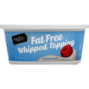 Signature Kitchens Whipped Topping, Fat Free
