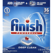 Finish Automatic Dishwasher Detergent, Deep Clean, Tablets