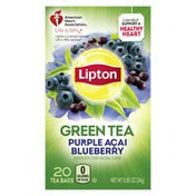 Lipton Green Tea Bags Purple Acai Blueberry