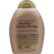 OGX Conditioner, Ever Strengthening + Brazilian Keratin Therapy