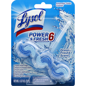 Lysol Toilet Cleaner, Automatic, Ocean Fresh Scent