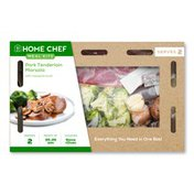 Home Chef Meal Kit Pork Tenderloin Marsala With Roasted Broccoli