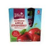 Meijer True Goodness Squeezable Apple Strawberry Applesauce