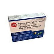 Life Brand Cold & Flu Nighttime Relief Caplets