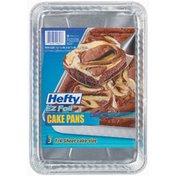 "Hefty EZ Foil 12 1/4 X 8 1/4 X 1 1/4"" Cake Pans"