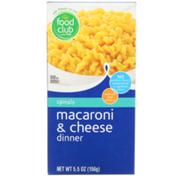 Food Club Spirals Macaroni & Cheese Dinner