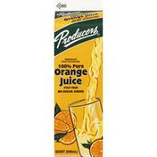 Producers Juice, 100% Pure, Pulp Free Orange