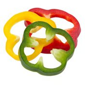 Fresh Cut Sliced Combination Red Yellow Green Peppers